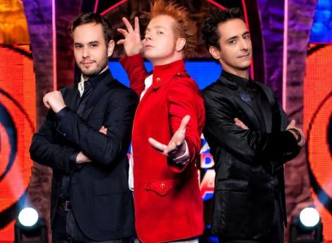 """)De izda a dcha.) Jorge Blas, Yunke y Luis de Matos serán los 'profesores' de """"Por arte de Magia""""."""