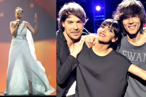 Pastora Soler y los chicos ESDM, representantes de España en Eurovision 2012 y en 2013.