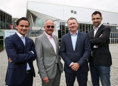 Jon Ola Sand y ejecutivos de la UER-ORF en el Wiener Stadthalle (Foto: ORF)