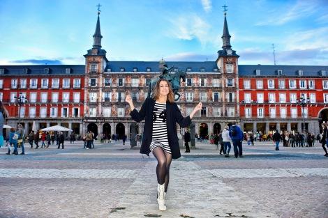 Barei en la Plaza Mayor de Madrid. RTVE.